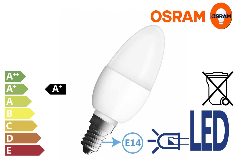 Osram LED STAR Classic B40 6W E14