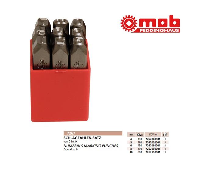 Slagcijfers Set 4,0mm 9-delig