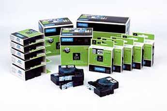 Label D1 Standaard 12mm zwart op transparant DYMO 45010