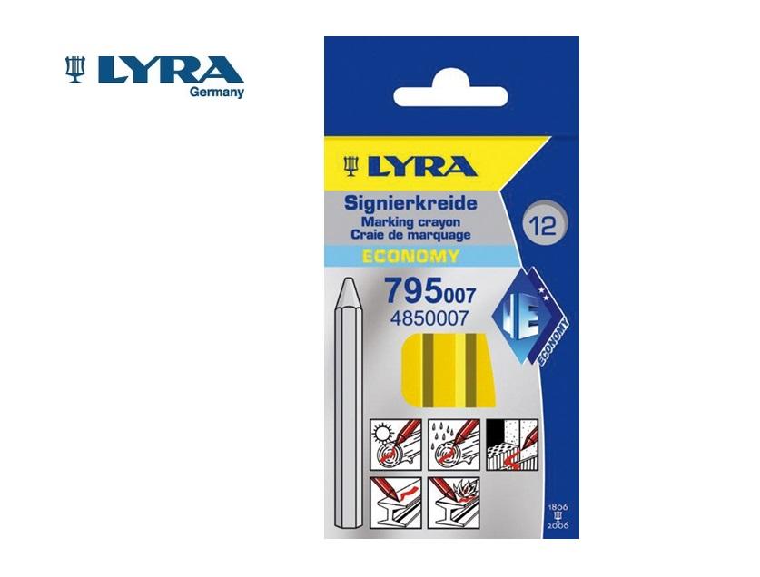 Lyra 795 Merkstift/-krijt Geel 6 kant. 11x110mm ECONOMY