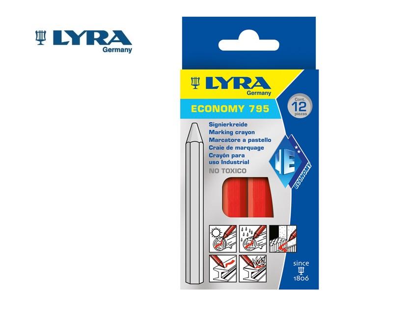Lyra 795 Merkstift/-krijt Rood 6 kant. 11x110mm ECONOMY