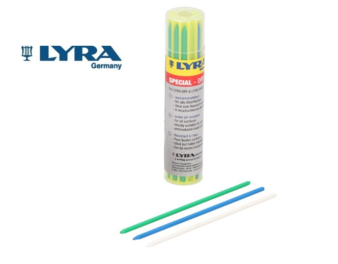 Vullingenset LYRA 12d. telkens 4 st. blauw/groen/wit