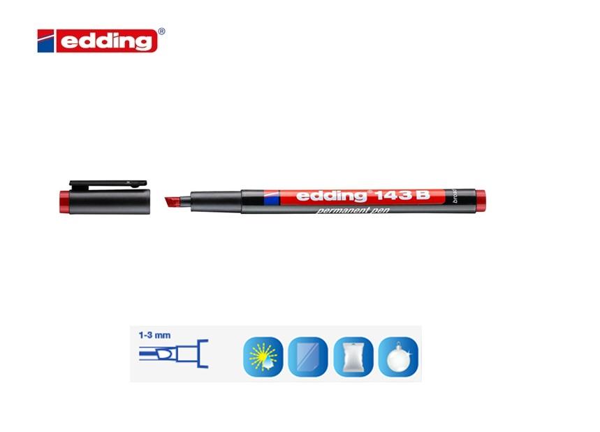 Viltstift edding 1 beitelpunt Blauw 1-5mm