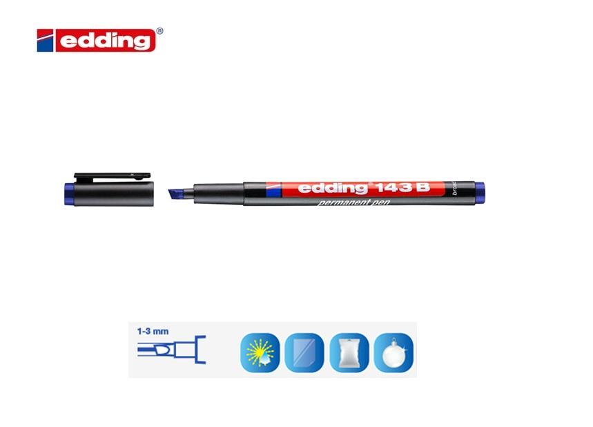 Viltstift edding 1 beitelpunt Rood 1-5mm