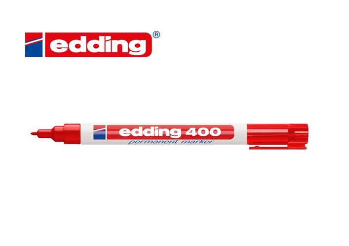 Viltstift edding 400 rond Rood 1mm
