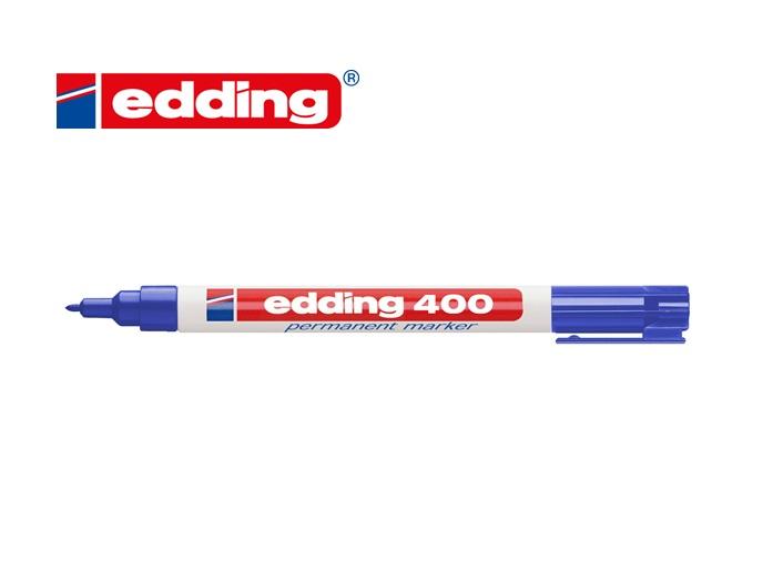 Viltstift edding 400 rond Blauw 1mm