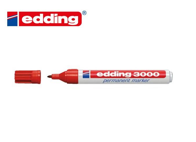 Viltstift Edding 3000 rond Rood 1.5-3mm