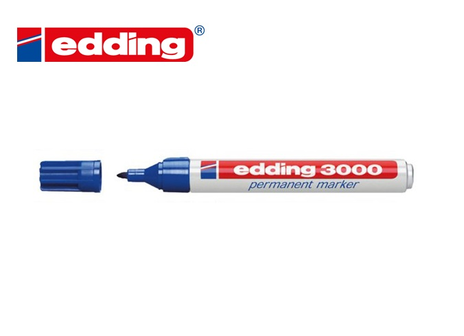Viltstift Edding 3000 rond Blauw 1.5-3mm