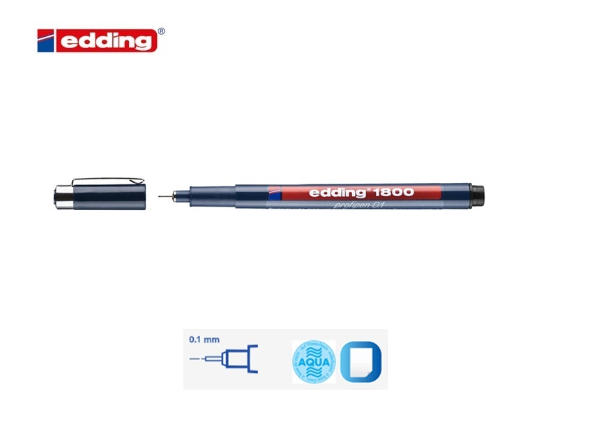 Viltstift Edding 800 zwart 4-12mm