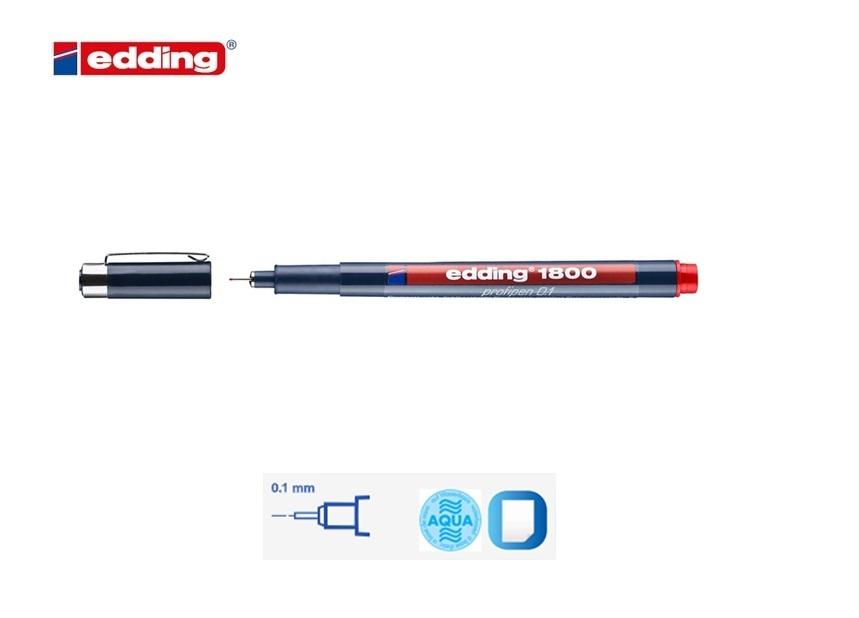 Viltstift Edding 800 Rood 4-12mm