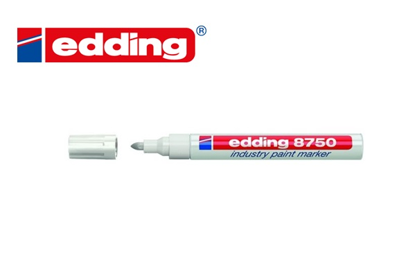 Industrie paint marker Edding 8750 Wit
