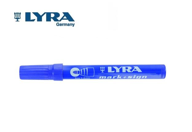 LYRA Merkstift permanent Blauw 1-4mm