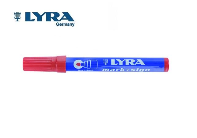 LYRA Merkstift permanent Rood 1-4mm