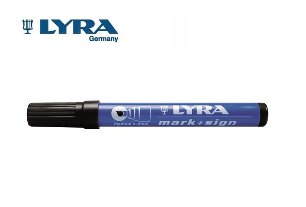LYRA Merkstift permanent zwart 2-6mm