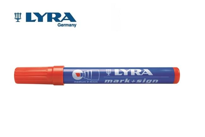 LYRA Merkstift permanent Rood 2-6mm