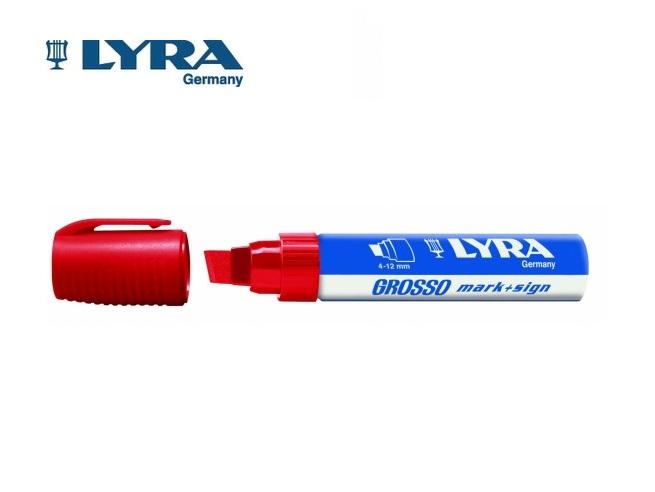 Lyra Grosso viltstift rood 4-12mm watervast