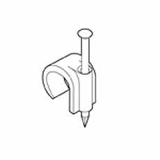 Spijkerclip 2,5 - 4,0 mm grijs