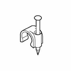 Kabelclip 3,0 mm rond wit