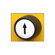 Drukknop wit met zwarte pijl | DKMTools - DKM Tools
