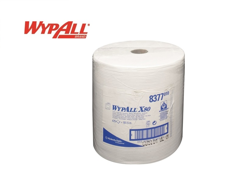 Kimberly Clark Wypall X80 1 laags poetsrol wit 340x315