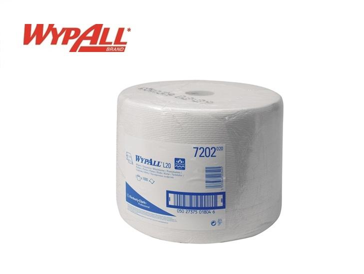WypAll L 20 7202 Poetsdoeken wit 1-laags 380x240mm 1000vel