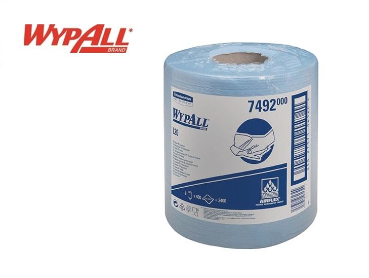 WypAll L20-7492 Poetsdoeken 380x185mm 1-lg geper. blauw disp 400vel