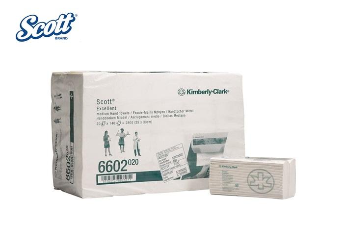 Scott 6602 EXCELLENT papieren handdoek C gevouwen / Medium 20x140vel 330x250