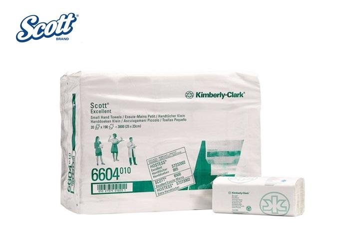 Scott 6604 EXCELLENT papieren handdoek ZZ-gevouwen Wit, 250 x 230 20x190 doeken per pak