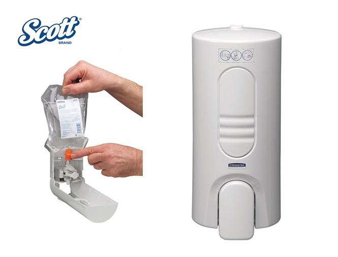 Scott 7135 Dispenser voor reinigingsmiddel voor toiletbril en oppervlakken wit 200x90x100