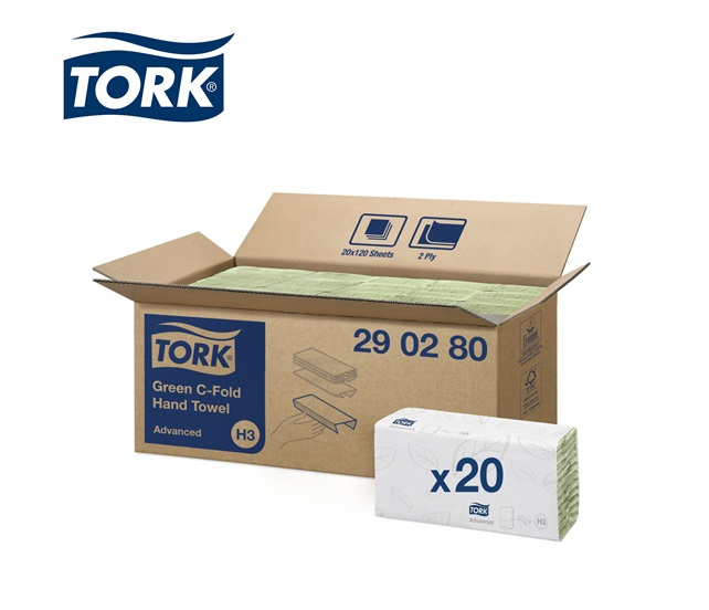 Tork C-vouw Advanced H3 - Papieren doekje 2-laags 310x250 C-20x120 vellen