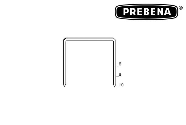 Prebena krammen 90055 type VZ 6 mm CNK 6700 stuks Verzinkt