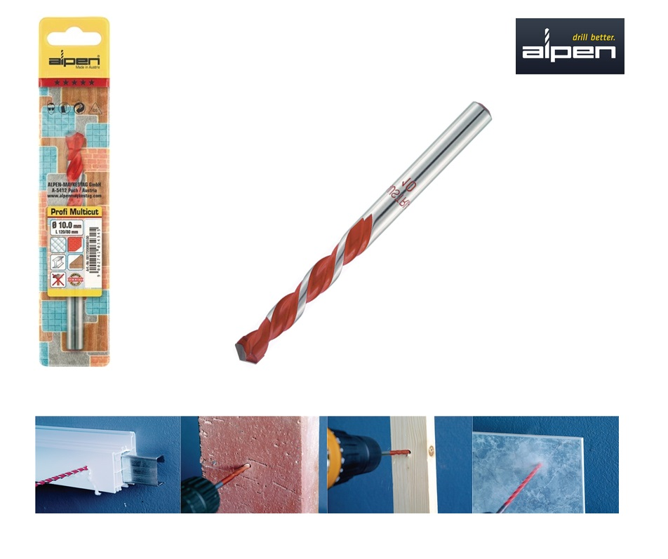 Multifunctionele boor 4x75 mm Alpen 17200400100