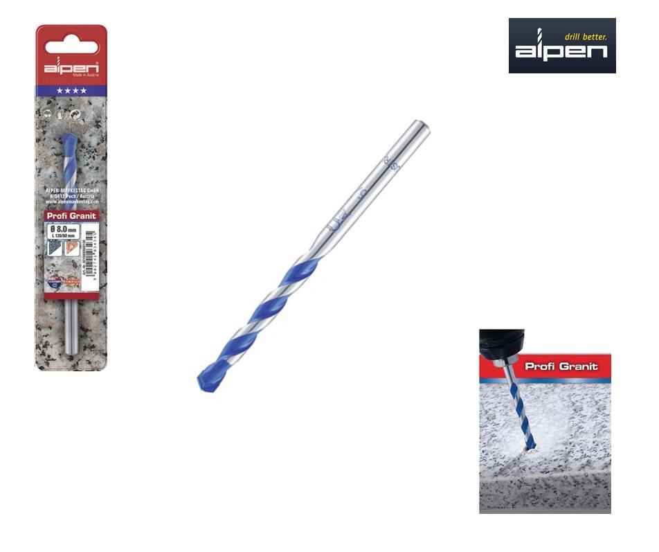 Granietboor 4x75 mm Alpen 25700400100