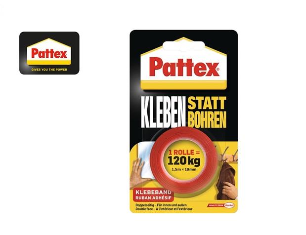 Pattex PXMT2 Dubbelzijdige tape Wit 19mm x 1,5mtr