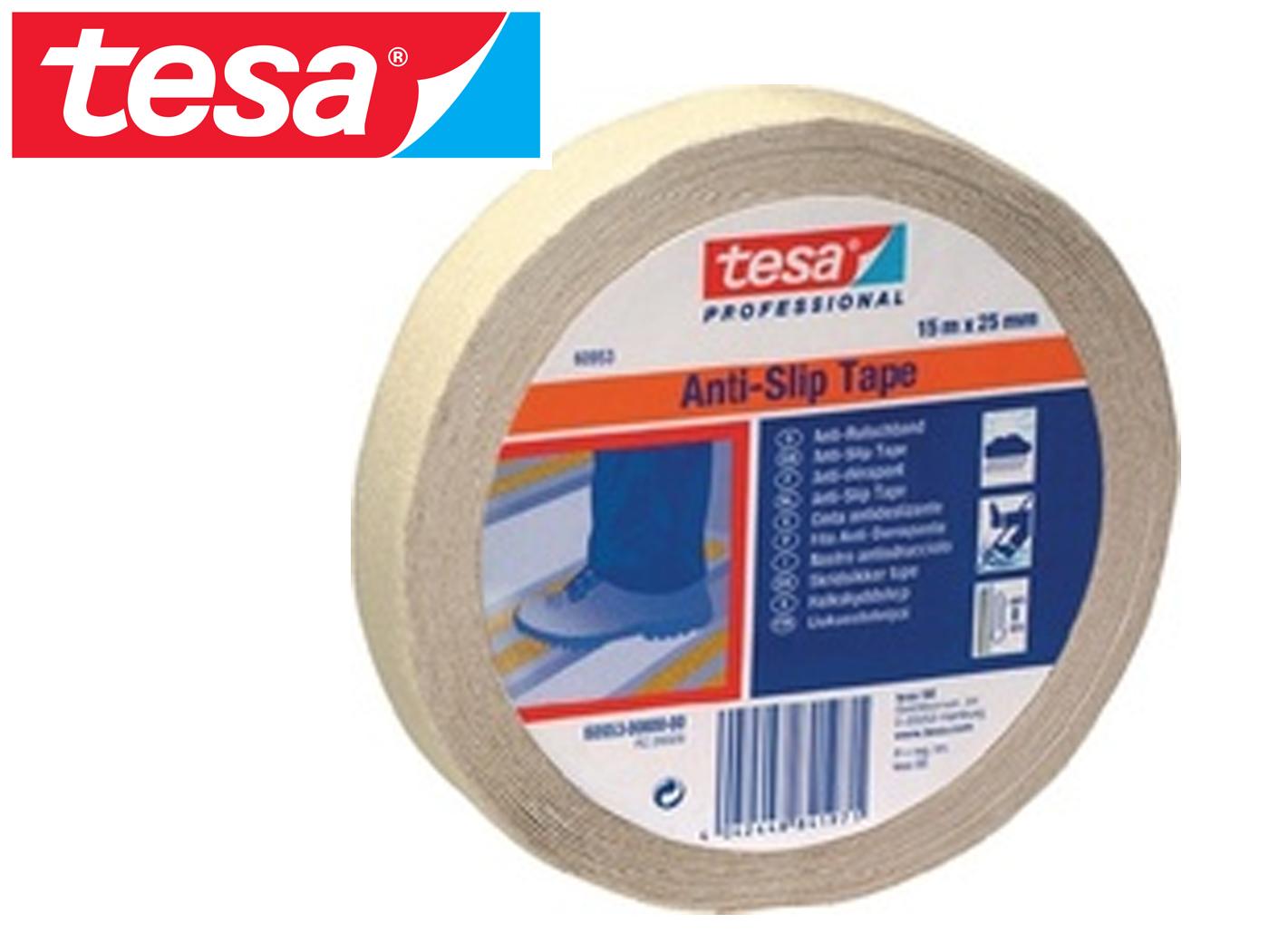 Anti-slip-plakband 15m x 25mm fluorescerend kleur transparant-melk TESA