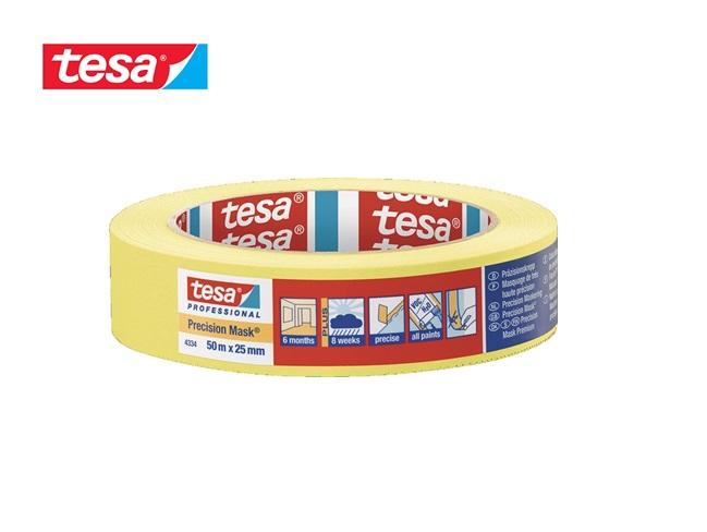 Crêpeband 4334 lengte 50m breedte 25mm geel tesa