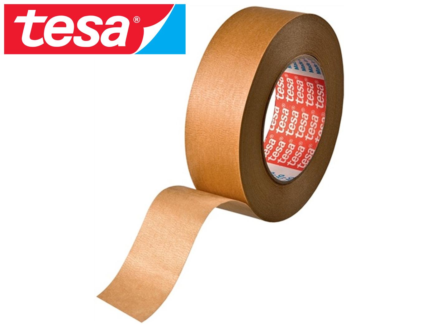 Crêpeband 4304 lengte 50m, breedte 38mm licht gecrêpt kleur bruin tesa