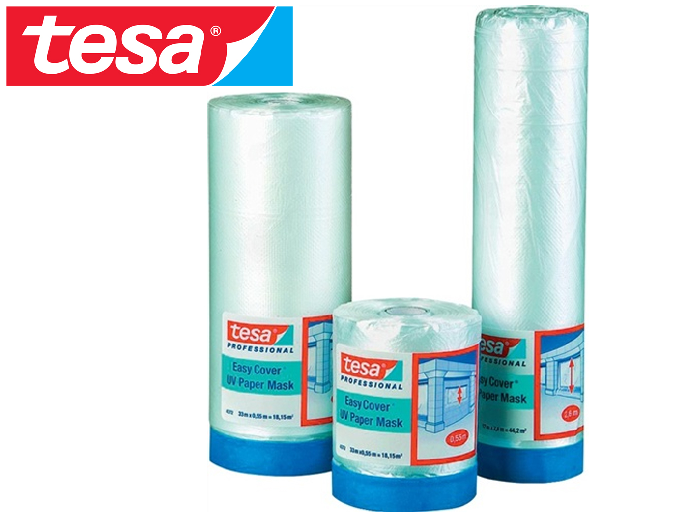 Schilderscrêpe tesa Easy Cover 4372 UV 33m 1.400mm