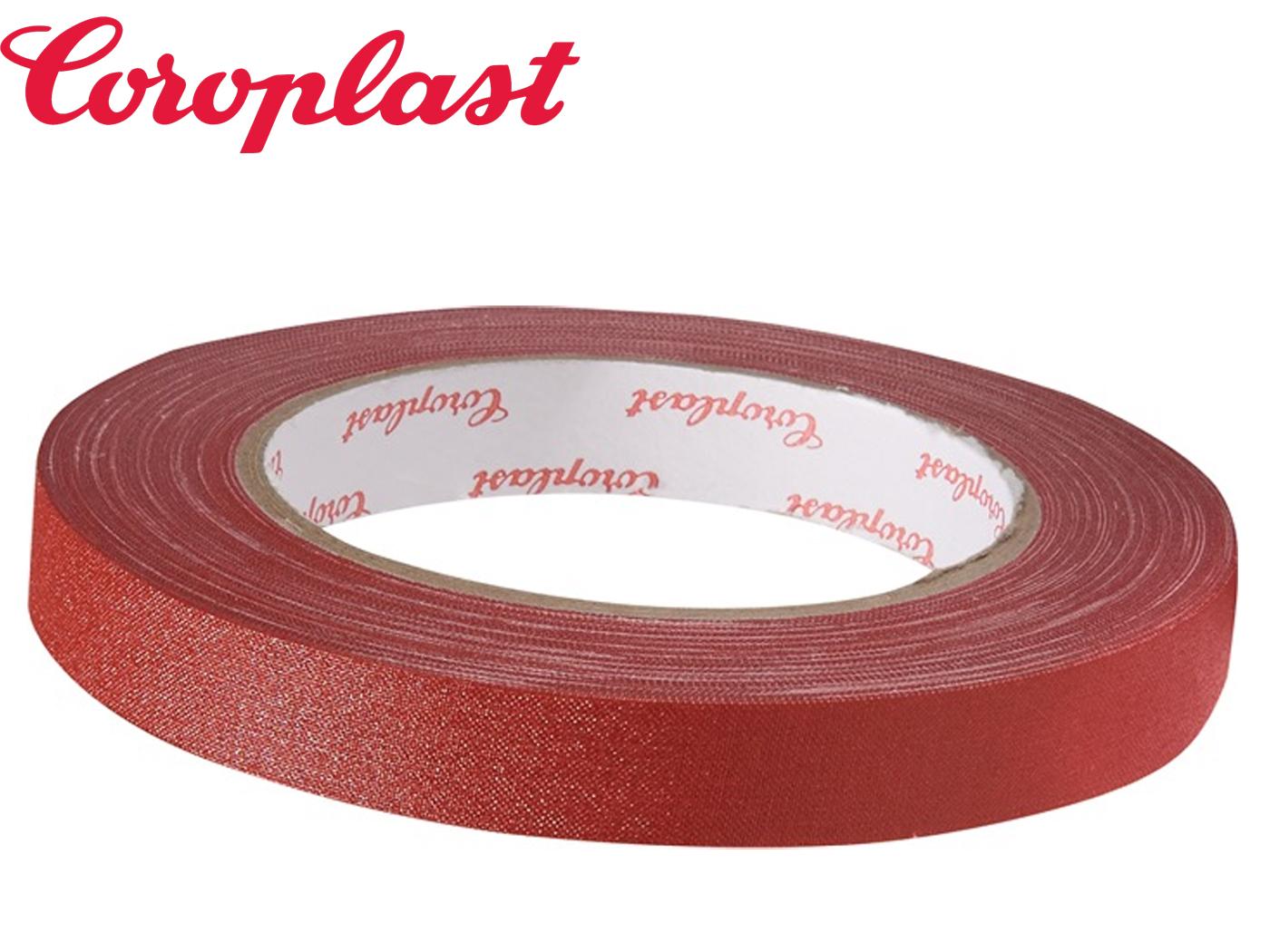 Textielversterkte tape rood 0,28mm x15mm x25m rood rol COROPLAST