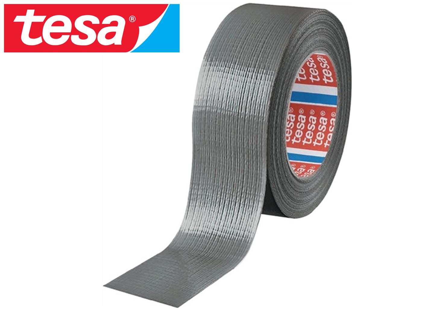 tape tesa 4662 lengte 50m B. 48mm zilver weefsel, PE-gecoat rl TESA