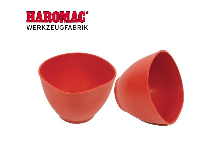 Gipsbeker 125mm x 90mm rubber rood Haromac 38 350 001