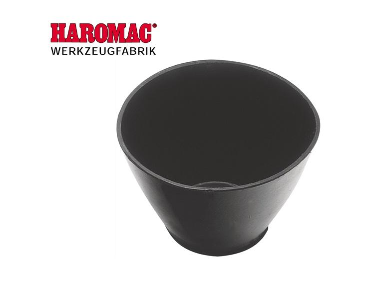 Gipsbeker 125mm x 90mm rubber zwart Haromac 38 350 000