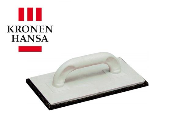 Schuurbord 240x120x10mm celrubberlaag zwart kunststof