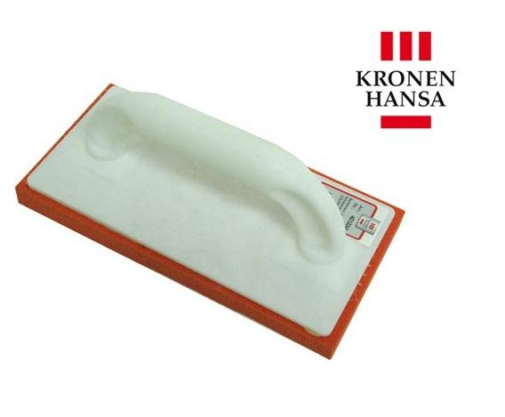 Schuurbord 280x140x10mm grof schuimrubber rood kunststof