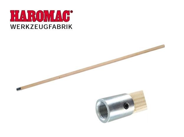 Steel met metalen kap hout 28mm