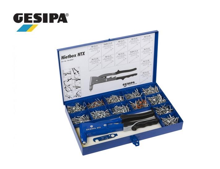 Gesipa Popnagelassortiment Nietbox NTX 2,4-5mm 942 delig