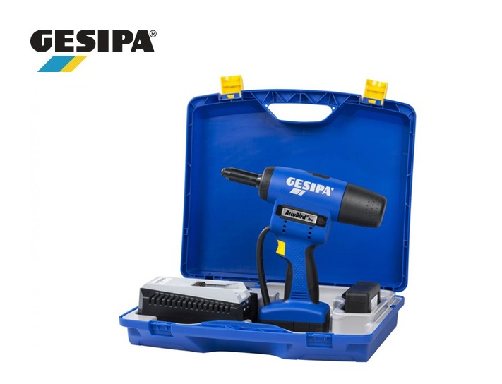 Gesipa Accu-blindklinkpistool AccuBird set in koffer 14,4V Li-Ion