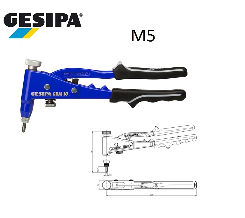 Gesipa GBM 10 Blindklinkmoerentang M5