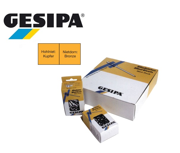 Gesipa PolyGrip multigrip Mini pack koper-brons 4x6mm 0.5 - 3.5mm