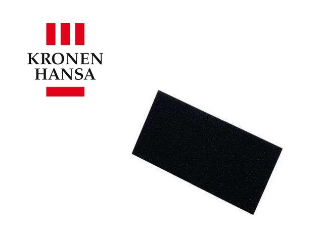 Laag van celrubber 280x140x8mm zwart voor invoegbord